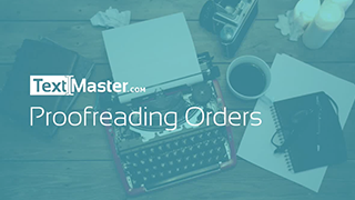 Proofreading orders